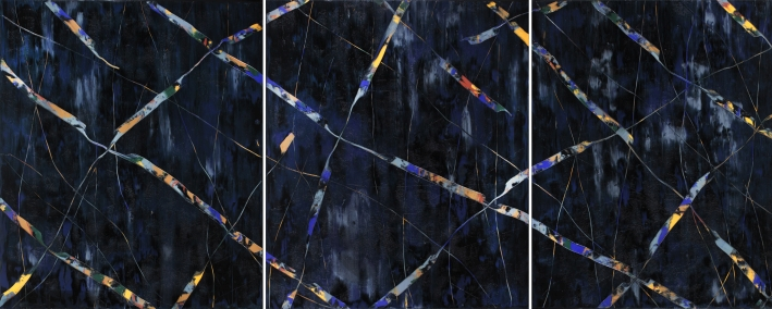 AO346, 2014, Untitled, oil on canvas, 220 x 190 cm, triptych