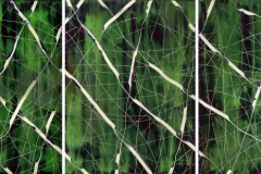 AO342, 2014, Untitled, oil on canvas, 250 x 188 cm, triptych